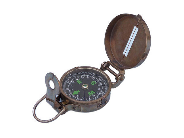 Antique Brass Military Compass 4