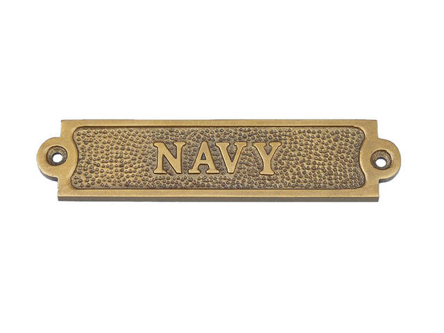 Antique Brass Navy Sign 6