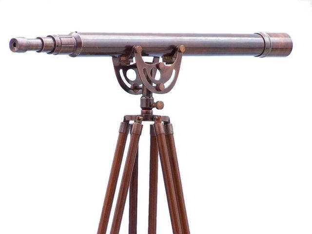 Floor Standing Antique Copper Anchormaster Telescope 65