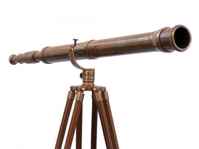 Buy Floor Standing Antique Brass Galileo Telescope 65 Inch