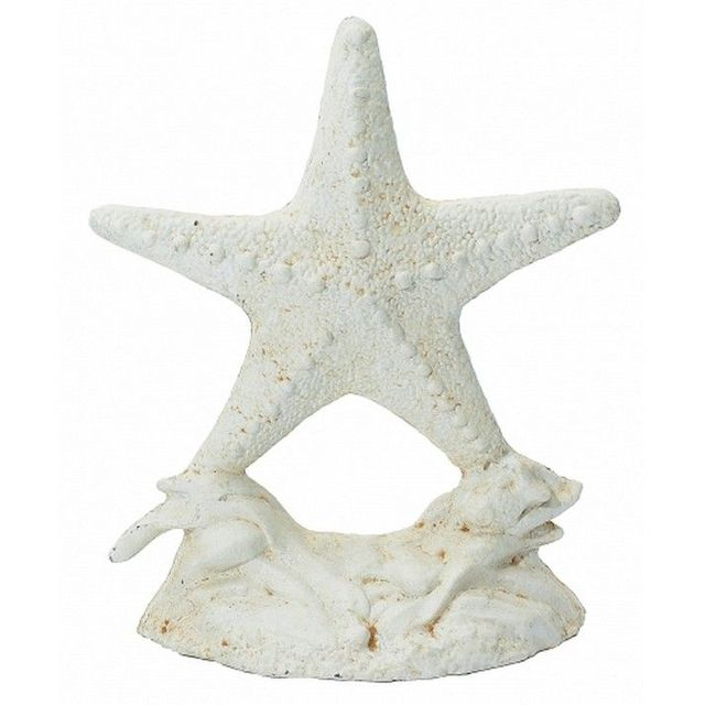 Whitewashed Cast Iron Starfish Door Stop 11