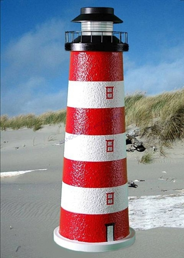 Assateague Stucco Solar Landscape Lighthouse 24