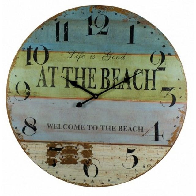 Wooden At The Beach Wall Clock 23
