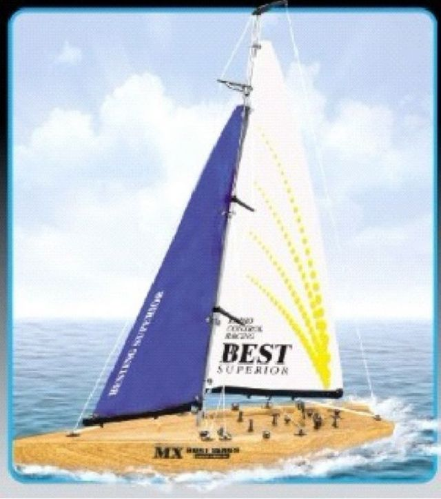 Ready To Run Remote Control MX White Model Sailboat 20
