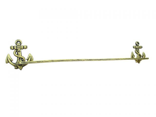 Rustic Gold Cast Iron Anchor Bath Towel Holder 27