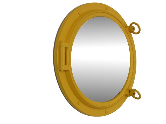 Yellow Decorative Ship Porthole Mirror 15