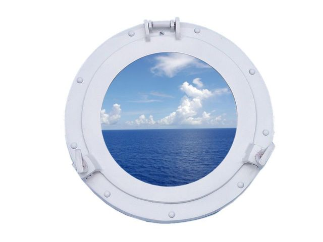 Brass Decorative Ship Porthole Window 12 - White