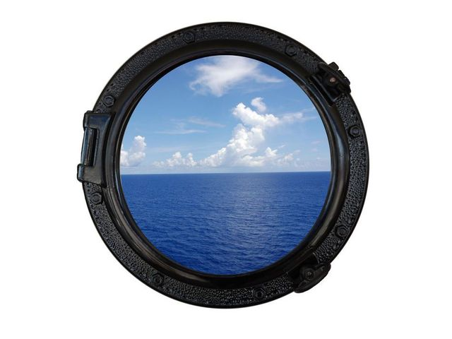 Gloss Black Decorative Ship Porthole Window 20