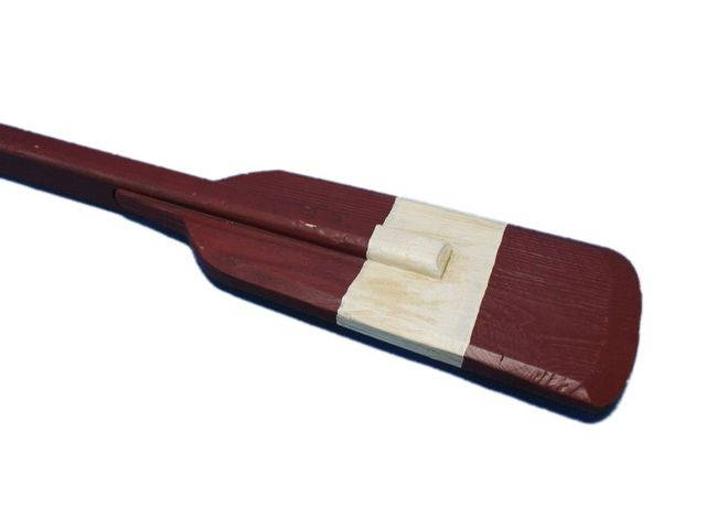Wooden Chadwick Decorative Squared Rowing Boat Oar w- Hooks 36