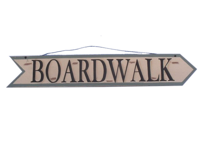 Wooden Boardwalk Arrow Sign 33