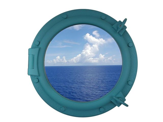 Light Blue Decorative Ship Porthole Window 20