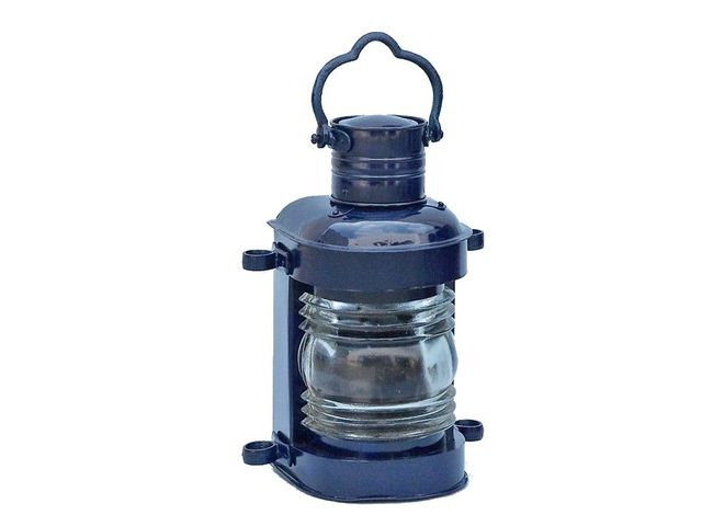 Iron Masthead Oil Lamp 14 - Dark Blue
