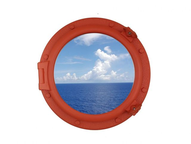 Orange Decorative Ship Porthole Window 20