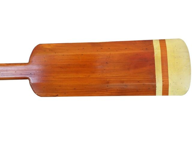 Wooden Westport Decorative Squared Rowing Boat Oar with Hooks 50