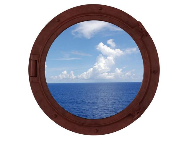 Rusted Iron Decorative Ship Porthole Window 24