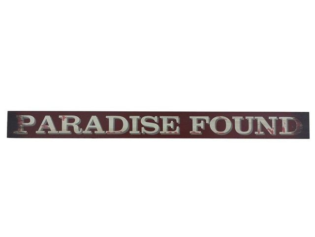Wooden Paradise Found Beach Sign 18