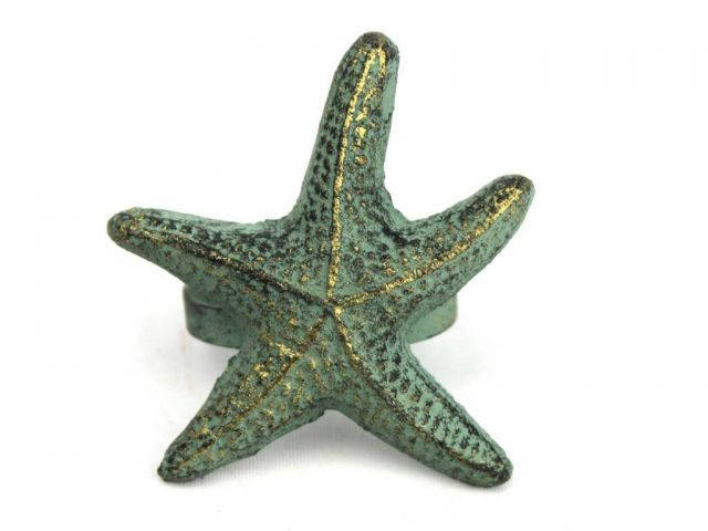 Antique Bronze Cast Iron Starfish Napkin Ring 3 - set of 2