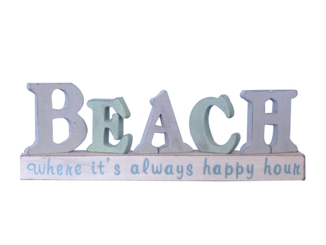 Wooden Beach Letters Sign 13