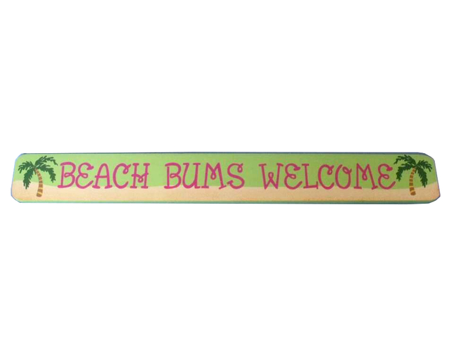 Wooden Beach Bum Welcome Sign 24