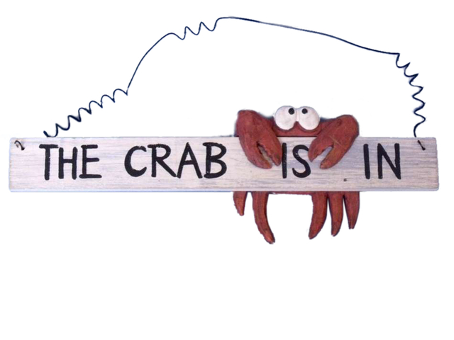 Wooden The Crab is In Sign 12