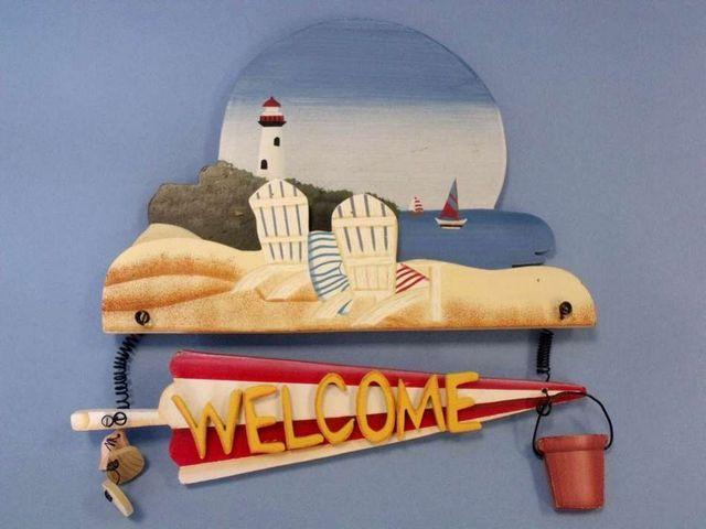 Wooden Welcome Chairs Sign 12