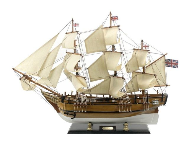 Wooden Charles Darwins HMS Beagle Limited Model Ship 34