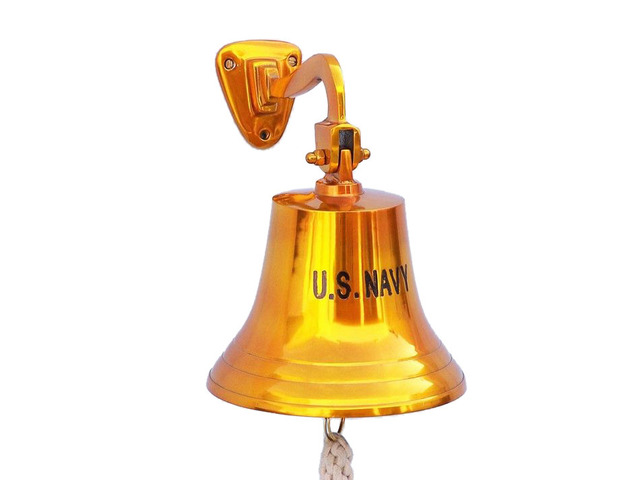 Brass Plated US Navy Ships Bell 11