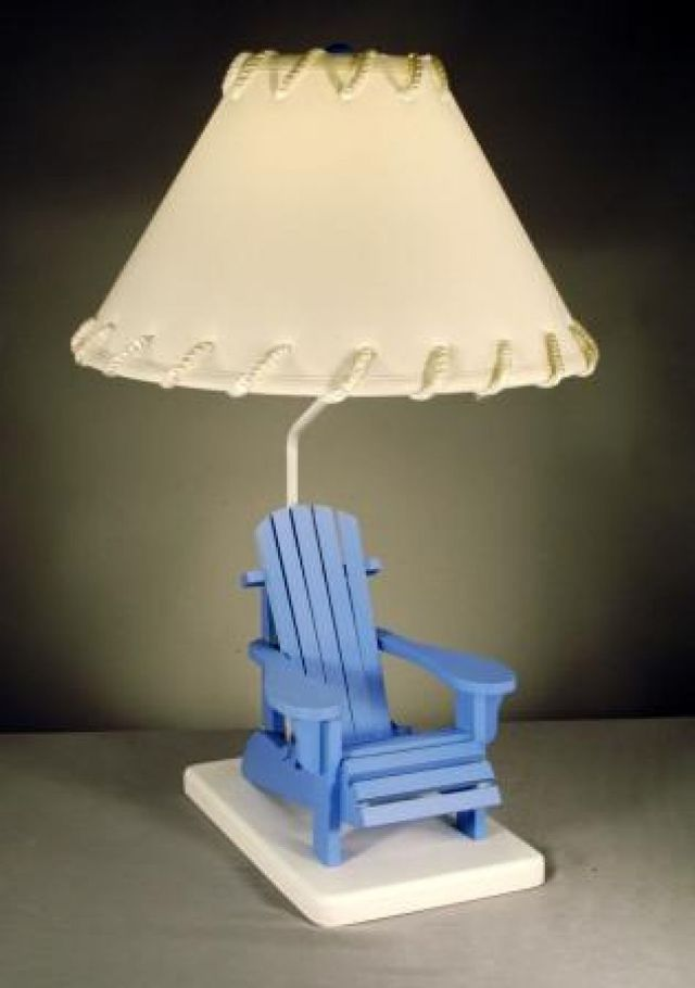 Blue Beach Chair Electric Lamp 29