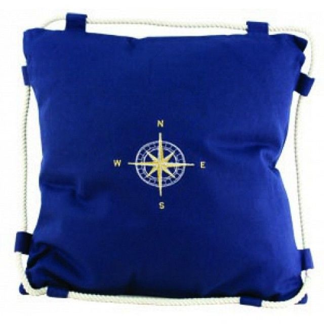 Navy Blue Compass Pillow 15