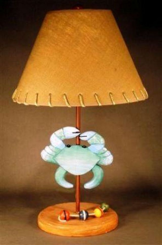 Blue Crab Electric Lamp 22