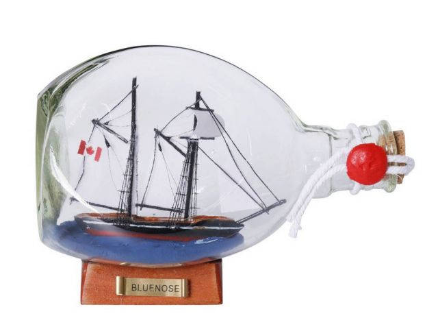 Bluenose Sailboat in a Glass Bottle 7