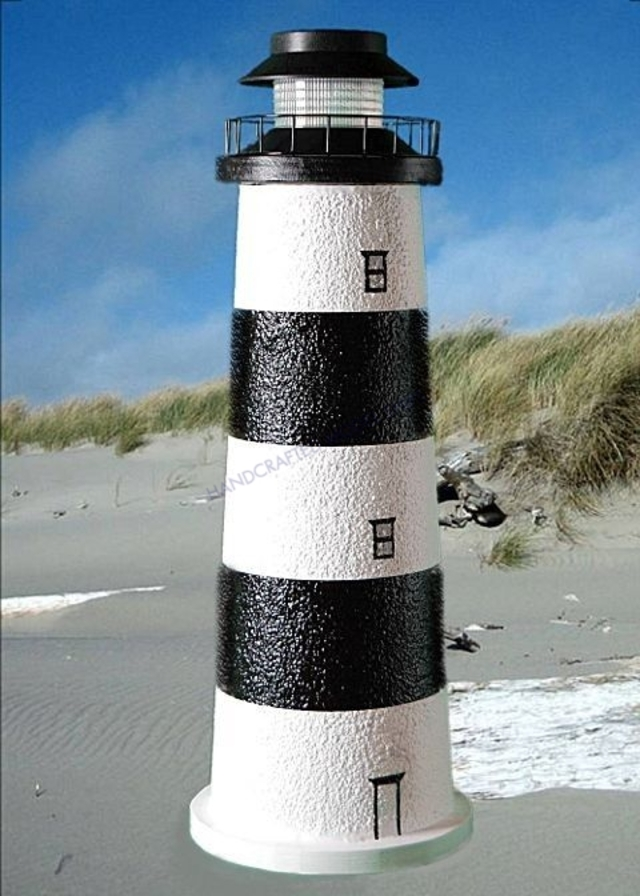 Bodie Island Stucco Low-Voltage Landscape Lighthouse 24
