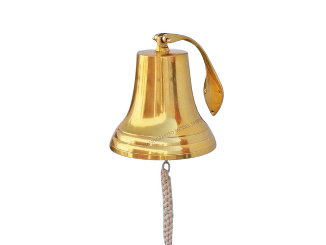 Brass Plated Hanging Harbor Bell 13