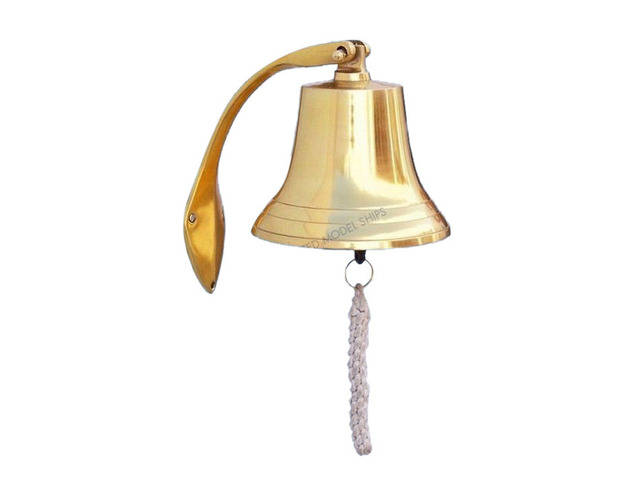 Brass Plated Hanging Harbor Bell 7