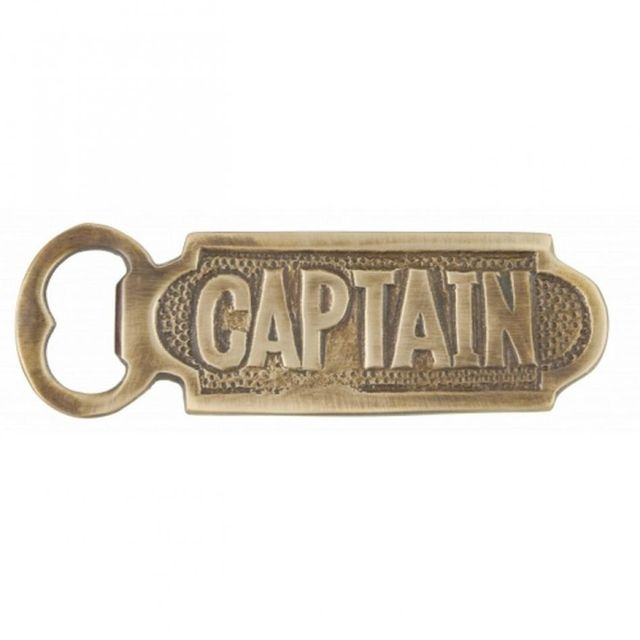 Solid Brass Captain Bottle Opener 5