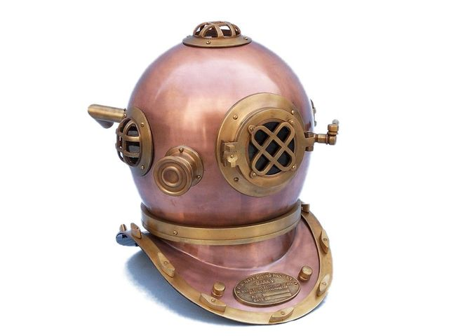 Antique Copper Decorative Divers Helmet 19