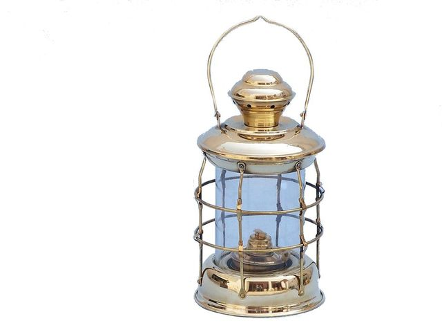 Solid Brass Admiral Nelson Oil Lamp 12
