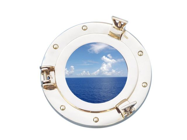 Brass Decorative Ship Porthole Window 8
