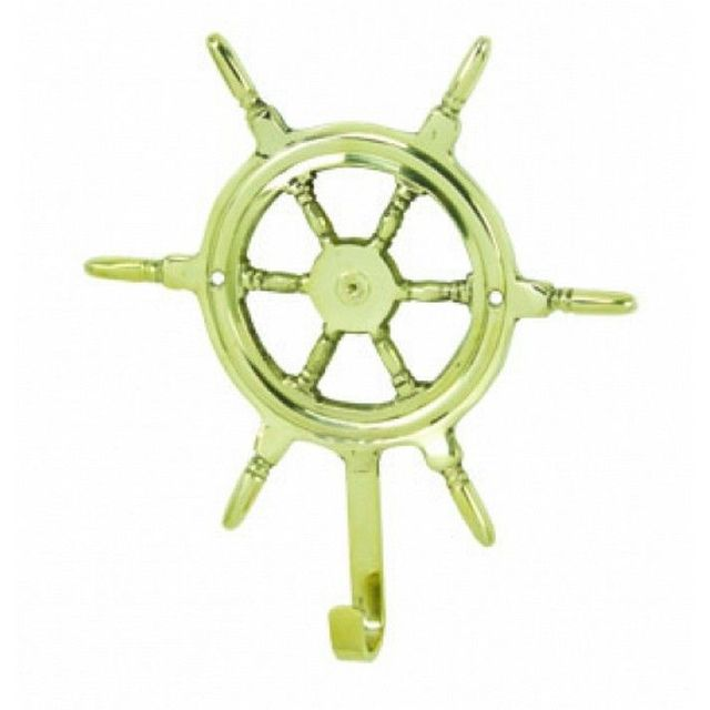 Solid Brass Ship Wheel Hook 7