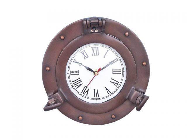 Bronzed Deluxe Class Porthole Clock 8