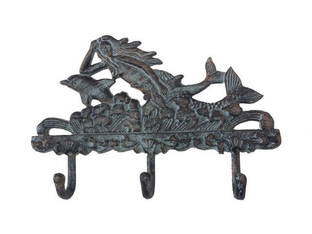 Seaworn Mermaid w- Dolphin Key Rack 10