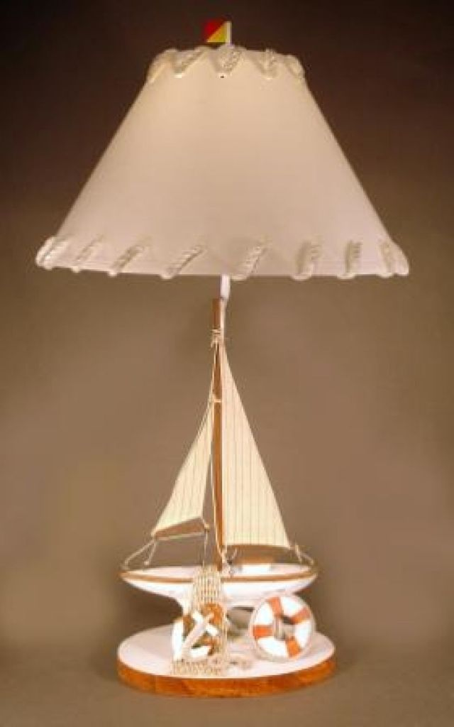 Brown Sailboat Electric Lamp 32
