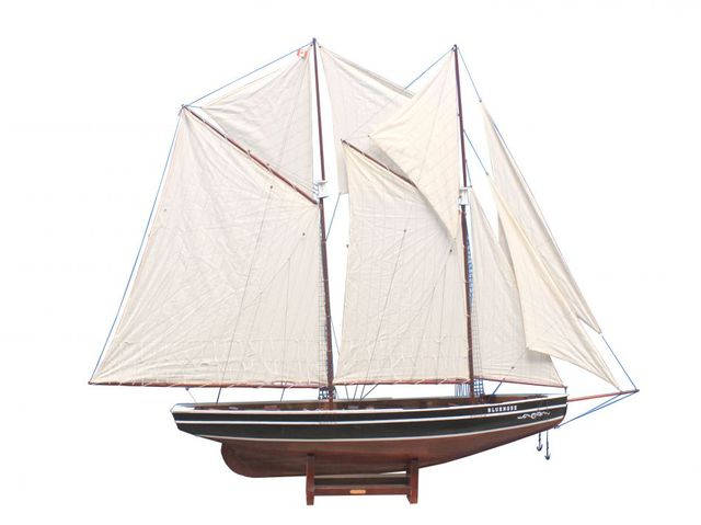 Wooden Bluenose Model Sailboat Decoration 80