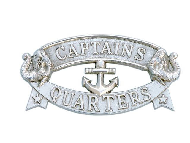 Chrome Captainandapos;s Quarters Sign 9