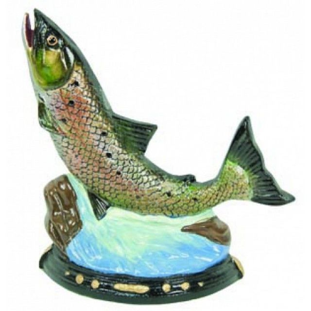 Cast Iron Painted Trout Doorstop 8