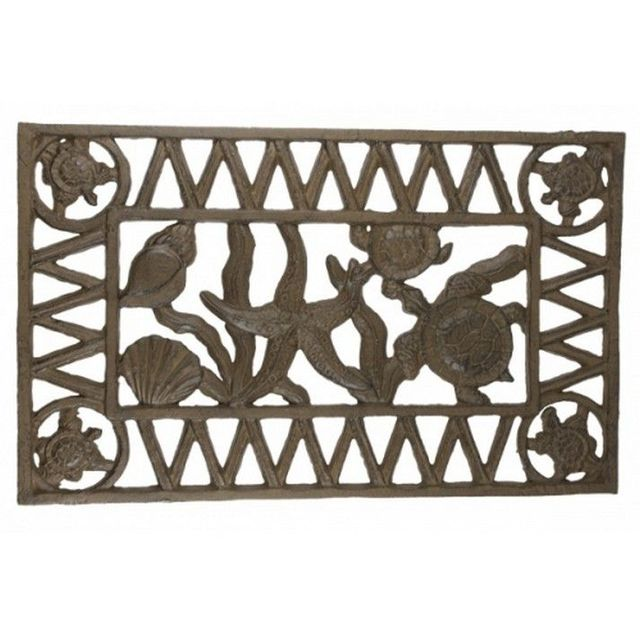 Rustic Cast Iron Sealife Doormat 22