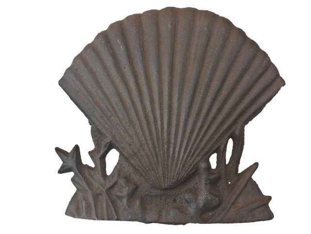 Rustic Iron Shell Door Stop 8