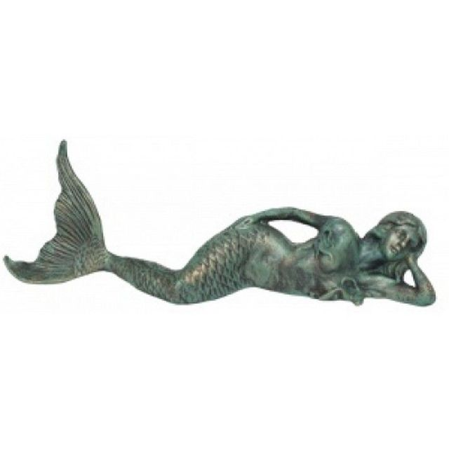 Seaworn Cast Iron Laying Mermaid 26