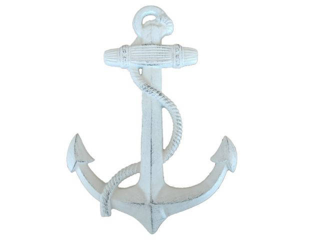 Whitewashed Cast Iron Anchor 17