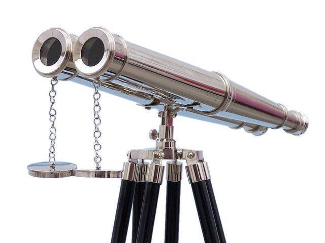 Floor Standing Admirals Chrome Binoculars 62